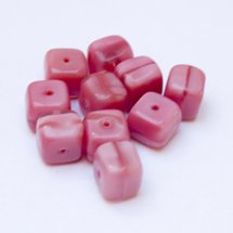 Cube 8x11mm Bead Satin Pink