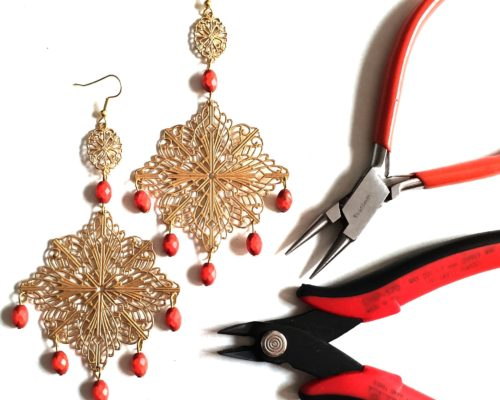 how to make DIY chandelier earrings